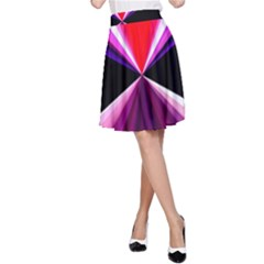 Red And Purple Triangles Abstract Pattern Background A Line Skirt