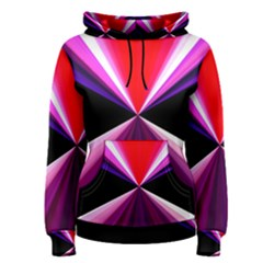 Red And Purple Triangles Abstract Pattern Background Women s Pullover Hoodie
