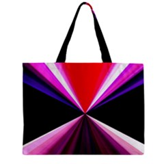 Red And Purple Triangles Abstract Pattern Background Zipper Mini Tote Bag