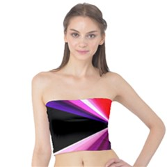 Red And Purple Triangles Abstract Pattern Background Tube Top