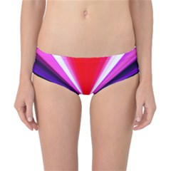 Red And Purple Triangles Abstract Pattern Background Classic Bikini Bottoms