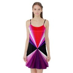 Red And Purple Triangles Abstract Pattern Background Satin Night Slip