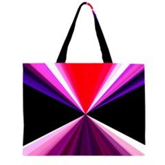 Red And Purple Triangles Abstract Pattern Background Large Tote Bag