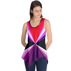 Red And Purple Triangles Abstract Pattern Background Sleeveless Tunic