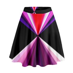 Red And Purple Triangles Abstract Pattern Background High Waist Skirt