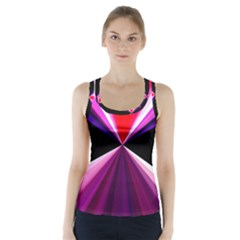 Red And Purple Triangles Abstract Pattern Background Racer Back Sports Top