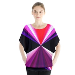Red And Purple Triangles Abstract Pattern Background Blouse