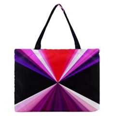 Red And Purple Triangles Abstract Pattern Background Medium Zipper Tote Bag