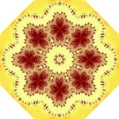 Yellow Digital Kaleidoskope Computer Graphic Golf Umbrellas