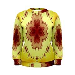 Yellow Digital Kaleidoskope Computer Graphic Women s Sweatshirt