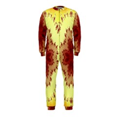 Yellow Digital Kaleidoskope Computer Graphic OnePiece Jumpsuit (Kids)