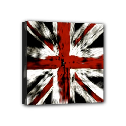 British Flag Mini Canvas 4  x 4