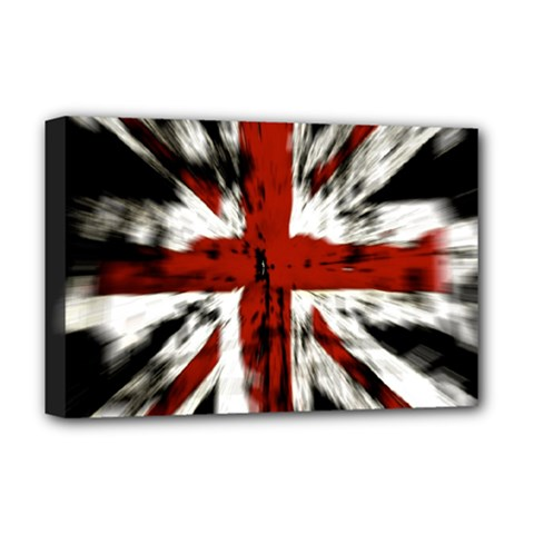 British Flag Deluxe Canvas 18  X 12