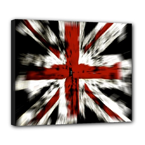 British Flag Deluxe Canvas 24  x 20