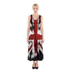 British Flag Sleeveless Maxi Dress