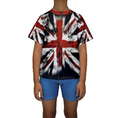 British Flag Kids  Short Sleeve Swimwear