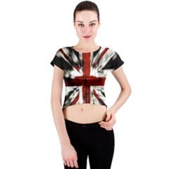 British Flag Crew Neck Crop Top
