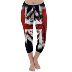 British Flag Capri Winter Leggings