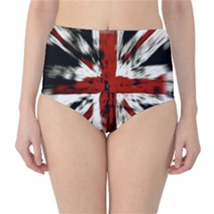 British Flag High-Waist Bikini Bottoms