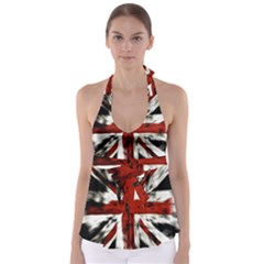 British Flag Babydoll Tankini Top