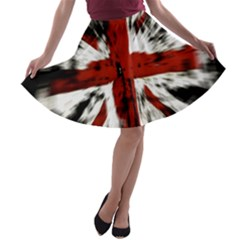 British Flag A-line Skater Skirt