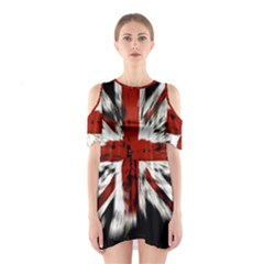 British Flag Shoulder Cutout One Piece