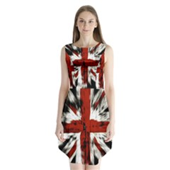 British Flag Sleeveless Chiffon Dress