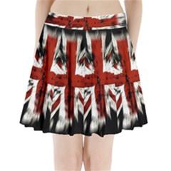 British Flag Pleated Mini Skirt