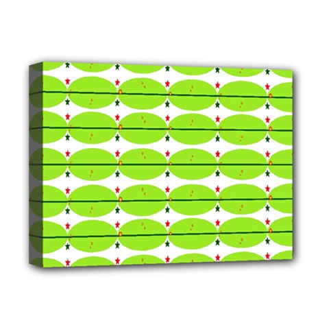 Abstract Pattern Background Wallpaper In Multicoloured Shapes And Stars Deluxe Canvas 16  x 12