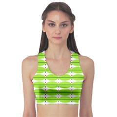 Abstract Pattern Background Wallpaper In Multicoloured Shapes And Stars Sports Bra