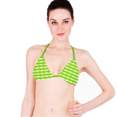Abstract Pattern Background Wallpaper In Multicoloured Shapes And Stars Bikini Top