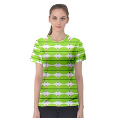 Abstract Pattern Background Wallpaper In Multicoloured Shapes And Stars Women s Sport Mesh Tee