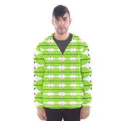 Abstract Pattern Background Wallpaper In Multicoloured Shapes And Stars Hooded Wind Breaker (Men)