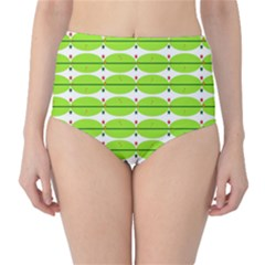 Abstract Pattern Background Wallpaper In Multicoloured Shapes And Stars High Waist Bikini Bottoms