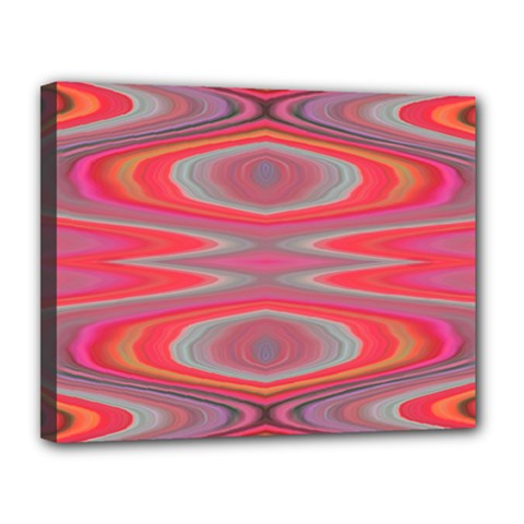 Hard Boiled Candy Abstract Canvas 14  x 11