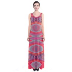 Hard Boiled Candy Abstract Sleeveless Maxi Dress