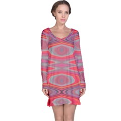 Hard Boiled Candy Abstract Long Sleeve Nightdress