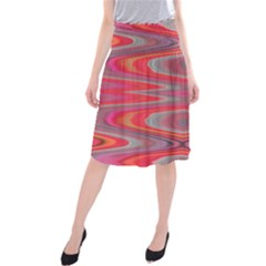 Hard Boiled Candy Abstract Midi Beach Skirt