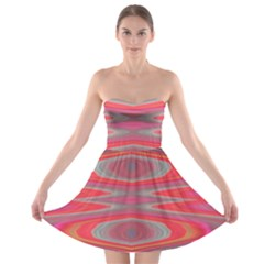 Hard Boiled Candy Abstract Strapless Bra Top Dress