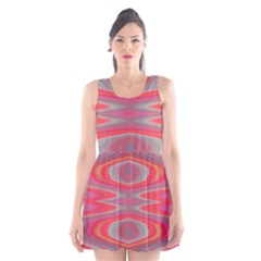 Hard Boiled Candy Abstract Scoop Neck Skater Dress