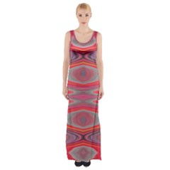 Hard Boiled Candy Abstract Maxi Thigh Split Dress