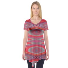 Hard Boiled Candy Abstract Short Sleeve Tunic