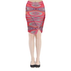 Hard Boiled Candy Abstract Midi Wrap Pencil Skirt