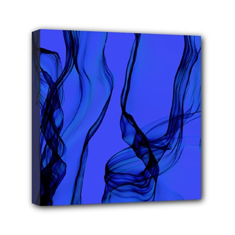 Blue Velvet Ribbon Background Mini Canvas 6  X 6