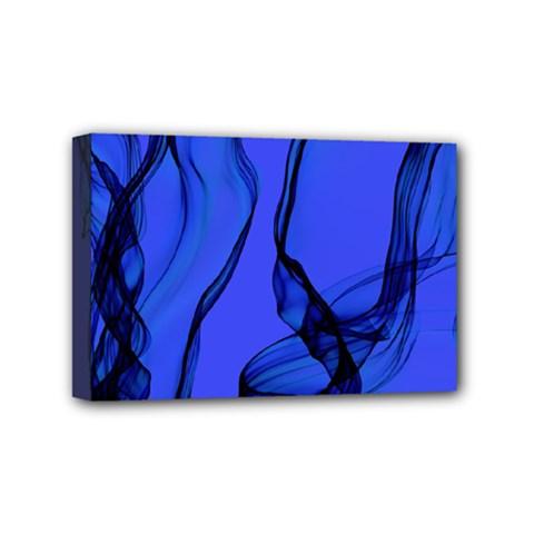 Blue Velvet Ribbon Background Mini Canvas 6  x 4
