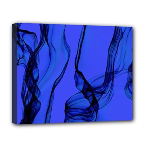 Blue Velvet Ribbon Background Deluxe Canvas 20  x 16