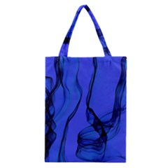 Blue Velvet Ribbon Background Classic Tote Bag