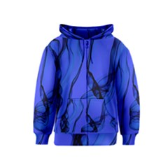 Blue Velvet Ribbon Background Kids  Zipper Hoodie