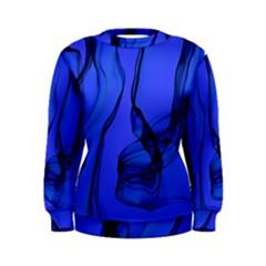 Blue Velvet Ribbon Background Women s Sweatshirt