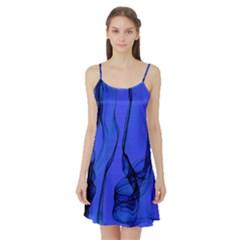 Blue Velvet Ribbon Background Satin Night Slip